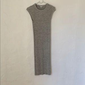 James Perse Standard Gray Midi Dress Sz 0